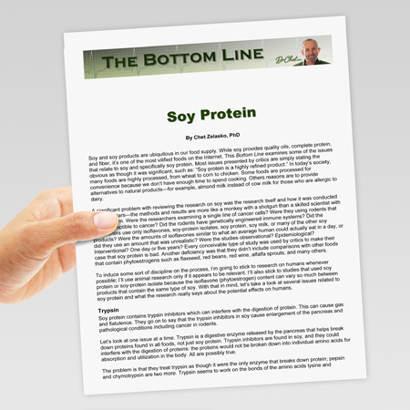 Bottom Line on Soy Protein
