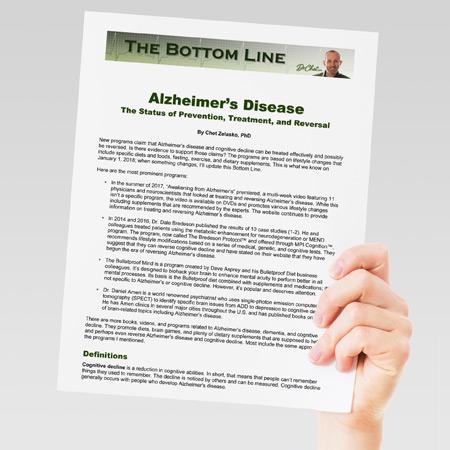Bottom Line on Alzheimer's Disease